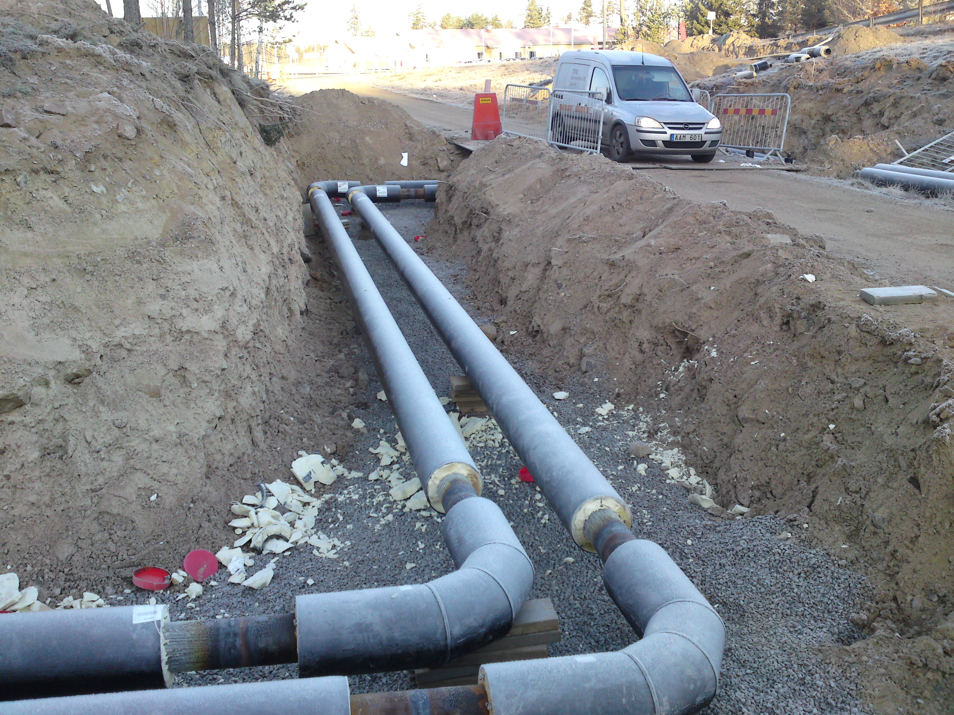 Förstärkingsledning Sandvägen i Växjö, DN150